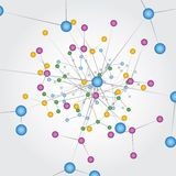 Συνδέσεις παγκόσμιων δικτύων Στοκ Εικόνα