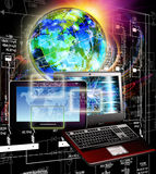 συνδέστε Νέα τεχνολογία υπολογιστών παραγωγής Επικοινωνία Στοκ φωτογραφία με δικαίωμα ελεύθερης χρήσης