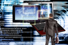 συνδέστε Νέα τεχνολογία υπολογιστών παραγωγής σύνδεση Στοκ εικόνα με δικαίωμα ελεύθερης χρήσης