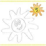 Συνδέστε τα σημεία και τη χρωματίζοντας σελίδα Στοκ Εικόνα