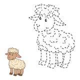 Συνδέστε τα σημεία (πρόβατα) διανυσματική απεικόνιση