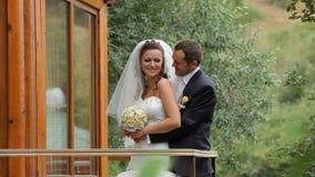 συνδέστε το γάμο πάρκων απόθεμα βίντεο