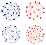 Συνδέστε το λογότυπο δικτύων Στοκ φωτογραφία με δικαίωμα ελεύθερης χρήσης