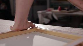 Συνδέστε stapler εικόνων απόθεμα βίντεο