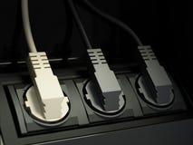 Συνδεμένα καλώδια Στοκ Φωτογραφία