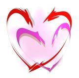 συνδεμένη καρδιές αγάπη Στοκ Εικόνα