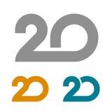 20 συνδεμένος αριθμός επετείου Στοκ φωτογραφία με δικαίωμα ελεύθερης χρήσης