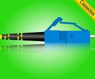Συνδετήρας οπτικών ινών LC Στοκ φωτογραφία με δικαίωμα ελεύθερης χρήσης