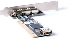 Συνδετήρας της μητρικής κάρτας υπολογιστών Στοκ Εικόνες