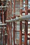 Συνδετήρας υλικών σκαλωσιάς Στοκ Φωτογραφία