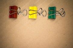 συνδετήρες εγγράφου μετάλλων Στοκ φωτογραφία με δικαίωμα ελεύθερης χρήσης
