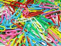 Συνδετήρες εγγράφου Colourfull Στοκ εικόνα με δικαίωμα ελεύθερης χρήσης