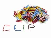 Συνδετήρες και ΣΥΝΔΕΤΗΡΑΣ γραψίματος Στοκ εικόνα με δικαίωμα ελεύθερης χρήσης
