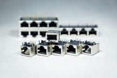 Συνδετήρες μετάδοσης στοιχείων Στοκ εικόνα με δικαίωμα ελεύθερης χρήσης