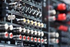 Συνδετήρες του δέκτη υψηλής τεχνολογίας AV Στοκ εικόνα με δικαίωμα ελεύθερης χρήσης