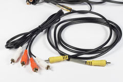 Συνδετήρες RCA για ακουστικός και τηλεοπτικός Στοκ φωτογραφία με δικαίωμα ελεύθερης χρήσης