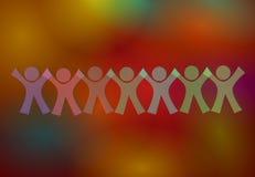 Συνδεδεμένα σύμβολα ανθρώπων στοκ φωτογραφία με δικαίωμα ελεύθερης χρήσης