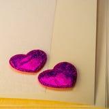 συνδεδεμένο διάνυσμα βαλεντίνων απεικόνισης s δύο καρδιών ημέρας Στοκ Εικόνες