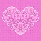 συνδεδεμένο διάνυσμα βαλεντίνων απεικόνισης s δύο καρδιών ημέρας αφηρημένο ροζ καρδιών Στοκ φωτογραφία με δικαίωμα ελεύθερης χρήσης