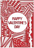 συνδεδεμένο διάνυσμα βαλεντίνων απεικόνισης s δύο καρδιών ημέρας στοκ φωτογραφία με δικαίωμα ελεύθερης χρήσης