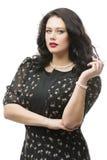 Συν το πρότυπο μεγέθους στο φόρεμα Στοκ εικόνες με δικαίωμα ελεύθερης χρήσης