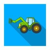 Συνδυάστε με τα μακριά υδραυλικά πόδια να συλλάβετε το σανό Ενιαίο εικονίδιο γεωργικών μηχανημάτων στο επίπεδο απόθεμα συμβόλων ύ απεικόνιση αποθεμάτων