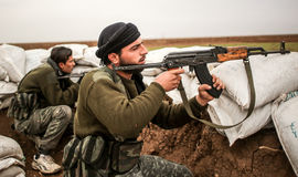 Συρία: Ελεύθερος συριακός στρατός Στοκ Εικόνα