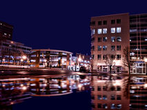 Συρακούσες Νέα Υόρκη τη νύχτα Στοκ εικόνες με δικαίωμα ελεύθερης χρήσης