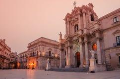Συρακούσες, Σικελία, Ιταλία: το τετράγωνο καθεδρικών ναών Στοκ φωτογραφίες με δικαίωμα ελεύθερης χρήσης