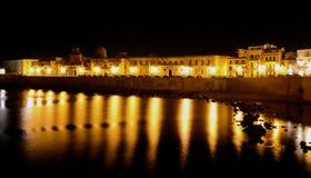 Συρακούσες τή νύχτα Στοκ εικόνες με δικαίωμα ελεύθερης χρήσης