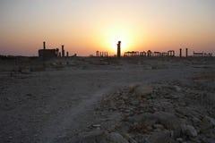 Συριακή archeological περιοχή Palmyra στην ανατολή Στοκ Εικόνες