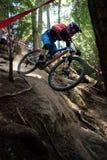 Συριστήρας φυλών ποδηλάτων παγκόσμιας σειράς Enduro Στοκ Εικόνες