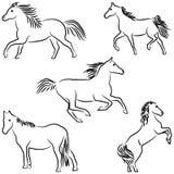 συρμένα άλογα τυποποιημέ&nu Στοκ φωτογραφίες με δικαίωμα ελεύθερης χρήσης