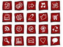 συρμένα εικονίδια χεριών Στοκ φωτογραφίες με δικαίωμα ελεύθερης χρήσης