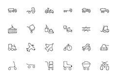 Συρμένα εικονίδια 3 Doodle μεταφορών χέρι Στοκ Φωτογραφία
