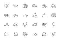 Συρμένα εικονίδια 2 Doodle μεταφορών χέρι Στοκ εικόνες με δικαίωμα ελεύθερης χρήσης