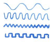 συρμένα οδοντωτά κύματα ση Στοκ φωτογραφία με δικαίωμα ελεύθερης χρήσης