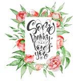 Συρμένα τα χέρι πρότυπα ευχετήριων καρτών αποσπάσματος Πάσχας με τη φράση εγγραφής κάποιο λαγουδάκι σας αγαπούν σύγχρονο ύφος καλ Στοκ Φωτογραφίες