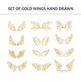 συρμένα φτερά χεριών στοιχεία σχεδίου που τί&th επίσης corel σύρετε το διάνυσμα απεικόνισης Στοκ φωτογραφίες με δικαίωμα ελεύθερης χρήσης
