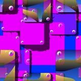 Συρμένα χέρι άνευ ραφής διανυσματικά αντικείμενα από τις αφηρημένες ενότητες διανυσματική απεικόνιση