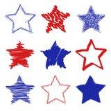 Συρμένα χέρι αστέρια Στοκ φωτογραφία με δικαίωμα ελεύθερης χρήσης