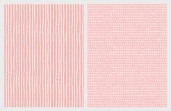 Συρμένα χέρι αφηρημένα διανυσματικά σχέδια Άσπρα γραμμές και τρίγωνα σε ένα ρόδινο υπόβαθρο ελεύθερη απεικόνιση δικαιώματος