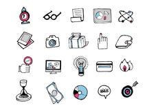 Συρμένα χέρι εικονίδια 001 Στοκ Φωτογραφίες