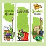 Συρμένα χέρι εμβλήματα κηπουρικής διανυσματική απεικόνιση