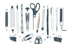 Συρμένα χέρι εργαλεία τέχνης Στοκ Εικόνες