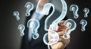 Συρμένα χέρι ερωτηματικά σχεδίων επιχειρηματιών Στοκ εικόνες με δικαίωμα ελεύθερης χρήσης