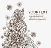 Συρμένα χέρι διανυσματικά αφηρημένα floral στοιχεία Στοκ Φωτογραφίες
