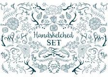 Συρμένα χέρι διανυσματικά στοιχεία Στοκ εικόνες με δικαίωμα ελεύθερης χρήσης