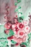 Συρμένα χέρι λουλούδια υδατοχρώματος Στοκ εικόνα με δικαίωμα ελεύθερης χρήσης