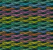 Συρμένα χέρι φωτεινά συμμετρικά κύματα στο ύφος ethno ελεύθερη απεικόνιση δικαιώματος